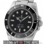 Rolex No-Date Ceramic Stainless Steel Black Dial