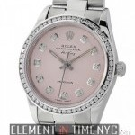 Rolex Steel 34mm Pink Diamond Dial  Diamond Bezel 1996