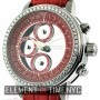 Quinting Chronograph Red Dial Factory Diamond Bezel