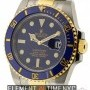 Rolex Stainless Steel  Yellow Gold Ceramic Bezel Blue Di