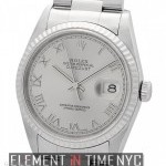 Rolex Stainless Steel 36mm Slate Roman Dial