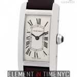 Cartier Tank Americaine Small 19mm 18k White Gold