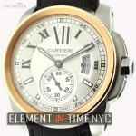 Cartier Steel  Gold Silver Dial 42mm