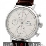 IWC Chronograph Stainless Steel Silver Dial