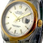Rolex Steel  18k Yellow Gold White Dial 36mm