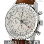 Breitling World Stainless Steel 46mm Silver Dial