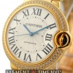 Cartier 18k Yellow Gold Diamond Bezel Auto 36mm