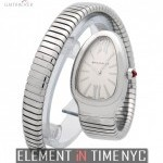 Bulgari Stainless Steel Tubogas Silver Dial 23mm
