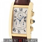 Cartier Chronograph 18k Yellow Gold Quartz 27mm