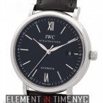 IWC Stainless Steel Date Black Dial 40mm