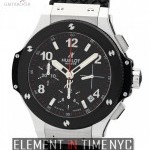 Hublot Stainless Steel 41mm Chronograph Carbon Fiber Dial
