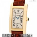 Cartier Tank Americaine Ladies 18k Yellow Gold