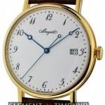 Breguet Yellow Gold Auto White Enamel Dial 38mm
