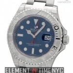 Rolex Stainless Steel And Platinum Blue Dial 40mm