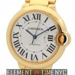 Cartier Ballon Bleu Mid-Size 36mm 18k Yellow Gold Automati