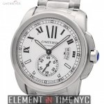 Cartier Calibre Stainless Steel Silver 42mm