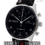 IWC Chronograph Stainless Steel Black Arabic Dial