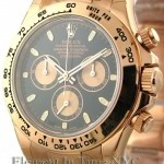 Rolex 18k Rose Gold Black Dial