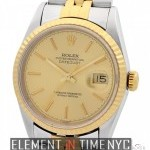 Rolex Steel  Gold 36mm Champagne Dial S Serial