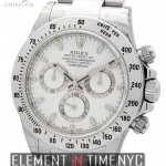 Rolex Stainless Steel 40mm White Dial