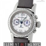 Girard Perregaux Ladies 18k White Gold 31mm Diamond Dial  Bezel