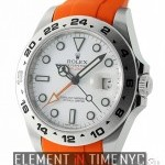 Rolex 42mm White Dial On Orange Rubber B