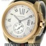 Cartier Calibre 18k Rose Gold Silver Dial