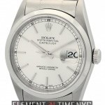 Rolex Stainless Steel 36mm Silver Stick Dial Circa 2002