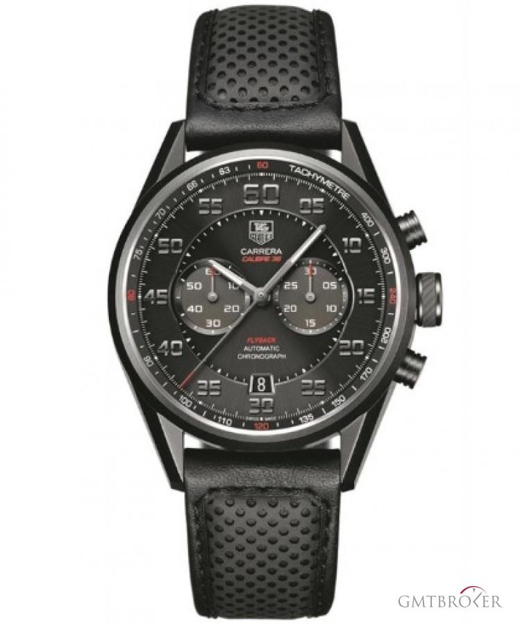 Tag heuer carrera calibre 36 flyback titanium strap watch