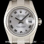 Rolex 18k White Gold Silver Dial Datejust Ladies BP 1791