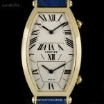 Cartier 18k Yellow Gold Tonneau Cintree Dual Time Mid-Size