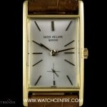 Patek Philippe 18k Yellow Gold Curved Case Gondolo Vintage Gents