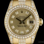 Rolex Datejust Ladies 18k Yellow Gold Champagne Dial Dia