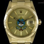 Rolex 14k YG Saudi Military Dial Datejust Gents Wristwat