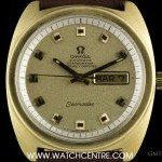 Omega 18k Yellow Gold Seamaster Day-Date Vintage Gents W