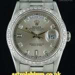 Rolex Day-Date 18239 18K White Diamond