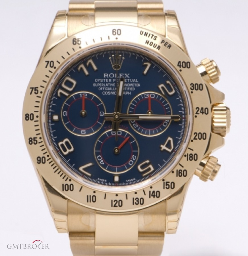rolex daytona 116528 blu arabi gmtbroker. Black Bedroom Furniture Sets. Home Design Ideas