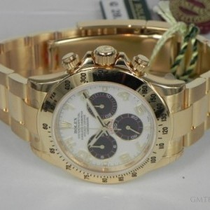 Rolex DAYTONA YELLOW GOLD PANDA DIAL 116528 78435