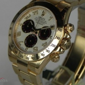 Rolex DAYTONA YELLOW GOLD PANDA DIAL 116528 78433