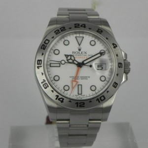Rolex EXPLORER II WHITE DIAL BP 216570 78455