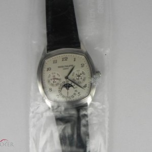 Patek Philippe PERPETUAL CALENDAR MOON PHASE WHITE GOLD 5940G 76139