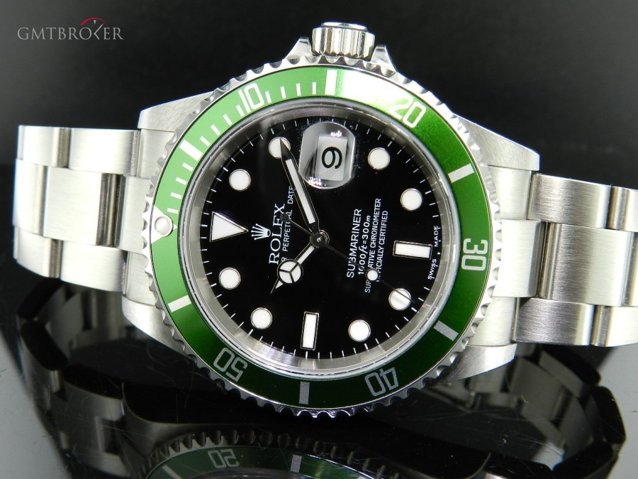 693deef8eb1 Rolex Submariner Ghiera Verde ref16610LV Fat Four 16610 281405