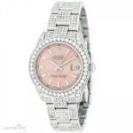 Rolex Datejust Midsize 178240 Custom 7ct Diamonds Stainl