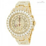 Rolex Yachtmaster II 116688 18K Yellow Gold 30ct Custom