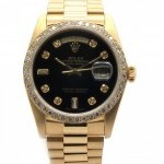 Rolex Day Date 18038 18K Yellow Gold Custom Diamon
