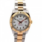 Rolex Datejust Turn-O-Graph 18K Yellow Gold and Steel Wh