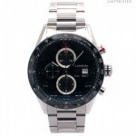 TAG Heuer Carrera Caliber Black Dial Stainless Steel Chronog