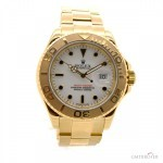 Rolex 18K Yellow Gold Yachtmaster White Dial Men82