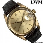 Rolex Date 1503 yellow gold 18KT champagne dial