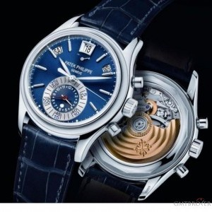 Patek Philippe 5960 p blue dial chrono and annual calendar